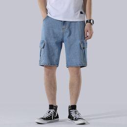 $enCountryForm.capitalKeyWord Australia - New Fashion Cotton Denim Shorts Mens Hip Hop Casual Loose Ripped Short Jeans Men Summer Harajuku Streetwear Mens Jeans DS50700