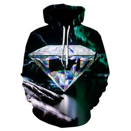$enCountryForm.capitalKeyWord Australia - Drop Shipping diamond 3D Printed Hoodies Men Women Sweatshirts Loose Pocket Hoodie Quality Tracksuits Pullover Hooded Coat