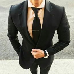 $enCountryForm.capitalKeyWord Australia - Latest Designs Formal Wedding Suits for Men Black Blazer Best Man Jacket Notched Lapel Costume Homme Terno Masculino 2Piece Groomsmen Wear