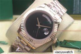 Luxury Big Face Watches Men Australia - luxury watch men automatic 36MM DAY DATE Big Black face Mechanics men's watches Sapphire original Box Stainless steel clasp Watches..