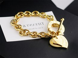 Coral Beads China Australia - 2019 Hot High Quality Celebrity design Silverware Gold Chain bracelet Women Letter Heart-shaped Bracelets Jewelry Gold With dust bag Box