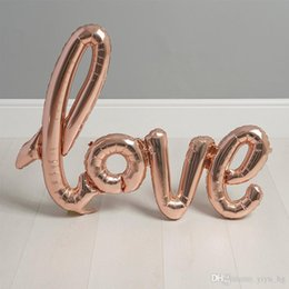 decorations anniversary NZ - LOVE Letter Foil Balloon Anniversary Wedding Valentine Day Decoration Balloons Large Size 108x65cm Bridal Shower Party Supplies
