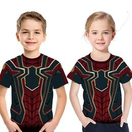 Superheroes Wholesale Clothing Australia - 2019 3D Superhero Summer Boy and Girl T shirt Avengers Endgame Kids Top Tee Fashion short sleeve Children's clothing costume