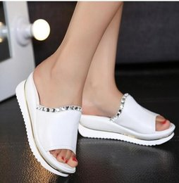 $enCountryForm.capitalKeyWord Australia - Summer new leather sandals and slippers women platform sandals shoes wedges platform shoes with comfort in Korea