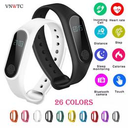 M2 Smart Bracelet Australia - Brand IP67 M2 Smart Wristband men watch BT 4.0 Bracelet Fitness Tracker Heart Rate Sleep Monitoring Pedometer women Smart Watch