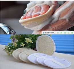 Wholesale Body Wash Products Australia - Natural Loofah Washs Bath Product Scrub And Wash Bath Brushes Rub Back Body Brushes Bathroom Accessories Environmentally Friendly