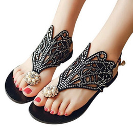 $enCountryForm.capitalKeyWord Australia - Ma'am Summer fashion New pattern Rhinestone Toe clamping Sandy beach Sweet Hollowing out Sandals Women's Shoes