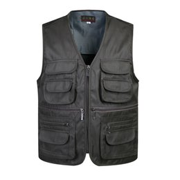 black sleeveless jackets for men NZ - Classic Men Vest With Many Pockets For Summer Male Casual Mesh Photographer Work Sleeveless Waistcoat Mens Multi Pocket Jacket T190828