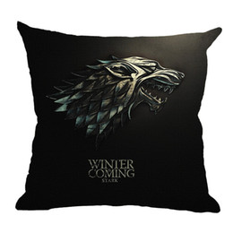 game thrones pillow case NZ - Game of Thrones Pillow Case 45*45cm Linen Throw Pillow Cushion Cover for Chair Sofa CarLiving Room Home Decoration