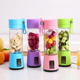 Venta al por mayor de 380 ML Licuadora Personal Con Taza de Viaje USB Portátil Juicer Licuadora Botella Juicer Recargable Fruta Vegetal Herramientas de Cocina WX9-374