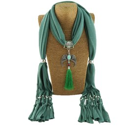 $enCountryForm.capitalKeyWord Australia - Fashionable Chinese style matching alloy jewelry with beads pendant lady scarf necklace scarf free shipping