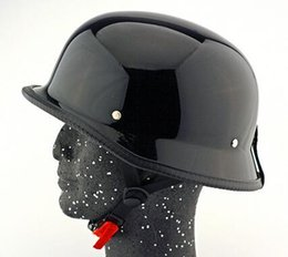 german motorcycle helmet Australia - German Style M L XL Vintage Motorcycle Cruiser Helmet Half Face German Helmet Motorcycle Bright Black Car-styling
