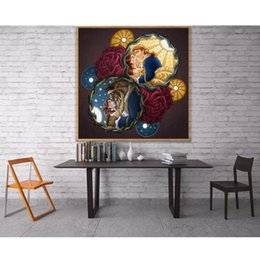beauty beast painting NZ - Full beauty and Beast Diamond Embroidery Cube Decorate Rhinestones Gifts beauty and Beast Diamond Painting Needlework