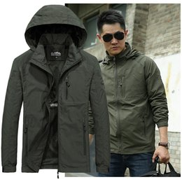 nylon outerwear Canada - Spring Jacket Men 5XL 6XL Waterproof Hooded Male Jacket Thin Casual Sporting Coat Motorcycle Fashion Outerwear Windbreaker Men T200102