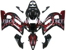 black flame fairing Australia - New ABS Fairing Kits Fit For YAMAHA YZF-R6 98-99-00-01-02 fairings set YZF600 1998 1999 2000 2001 2002 hot sales Black Red Flame