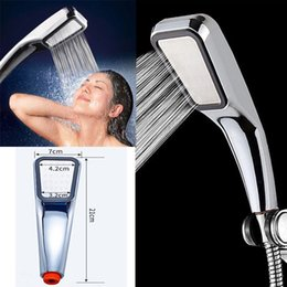 300 Holes High Pressure Shower Head Powerfull Boosting Bath Water Saving on Sale