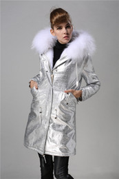 $enCountryForm.capitalKeyWord Australia - New arrival white rabbit fur lining silver long women Cold resistance parkas with white raccoon fur ykk zipper