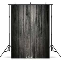 new for board 2021 - Vinyl portrait photography background black wooden board for children baby shower new born backdrop photocall booth shoot studio