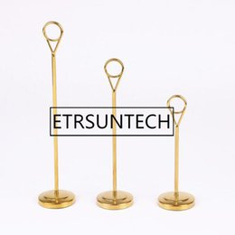 $enCountryForm.capitalKeyWord UK - 20pcs Luxury Gold 6 8 12 inch Tall Stainless Steel Table Number Holders Wedding Party Decoration Name Number Card Stand
