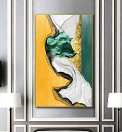 $enCountryForm.capitalKeyWord Australia - Brocade abstract art living room porch decorative painting light luxury style modern home art hanging painting Mural