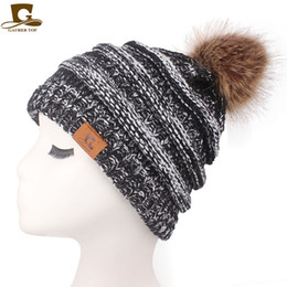 $enCountryForm.capitalKeyWord Australia - Knitted Cap Autumn Winter Men Cotton Warm Hat Skullies Brand Heavy Hair Ball Twist Beanies Solid Color Hip-Hop Wool Hats 8pcs CNY847
