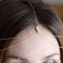 $enCountryForm.capitalKeyWord Australia - Wedding Hair Accessories Fashion Jewelry Gold Silver Bijoux De Tete Mariage Bridal Headband Crystal Head Chain For Women