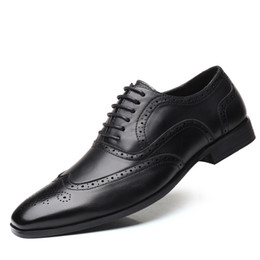 men travelling shoes NZ - Business casual shoes business travel Men big size wingtip shoes man lace up flats by china post airmail travelling merchants loafer zy324