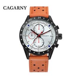 Big Case Wrist Watches Australia - Cagarny Mens Army Watches Leather Strap Quartz Analog Sport Wrist Watch For Men Casual Clock Male Big Case Relogio Masculino