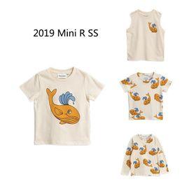 Cute Baby Tees Australia - J190529Kids T Shirts 2019 Mini R Summer Boys Girls Cute Whale Full Print Short Sleeve T Shirts Baby Child Cotton Tops Tees Clothes J190529