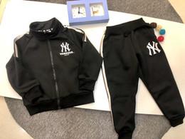 Boys shirts designs online shopping - Boy set children designer clothing new simple cardigan shirt trousers classic zipper design solid color boy sports suit
