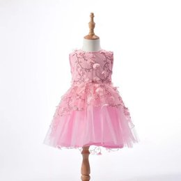 4f1126c0b17b Summer Baby Girl Princess Floral Dress Kids Wedding Party Pink Dresses  Evening Ball Gowns Formal Baby Frocks Clothes For Girl