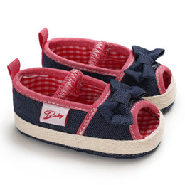 $enCountryForm.capitalKeyWord Australia - Canvas Girls Shoes Summer Toddler Baby Shoes First Walkers Plaid With Bowknot Fashion Casual Sneakers