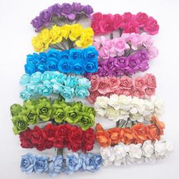 $enCountryForm.capitalKeyWord Australia - aper flower cutting 144Pcs Head 2cm Multicolor Decorative Plum Flower Artificial mini Paper Rose Flowers For Party Wedding Decoration Gif...