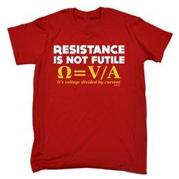 $enCountryForm.capitalKeyWord Australia - Men's Red 2XL - Resistance Is Not Futile - Cheap T shirt Fun Gift Style Round Style tshirt Tees Custom Jersey t shirt