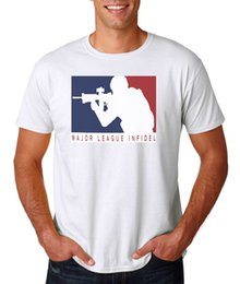 Marine Cotton Australia - Major League Infidel T-Shirt White S-3XL, Marines Army Navy Special Ops Military Cheap wholesale tees,100% Cotton For Man,T shirt printing