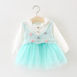 $enCountryForm.capitalKeyWord NZ - Children's wear autumn baby yarn splicing princess dress The 123 - year - old girls long-sleeved dress