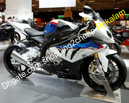 bmw s fairing UK - For BMW Motorbike Shell S1000RR S 1000 1000RR S1000 RR 10 11 12 13 14 White Blue Black Bodywork Fairing (Injection molding)