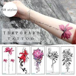 53309acf6 Sexy Red Rose Design Women Waterproof Body Arm Art Temporary Tattoos  Sticker Leg Flower Fake Tattoo Sleeve Paper Tip Summer swimsuit sticker