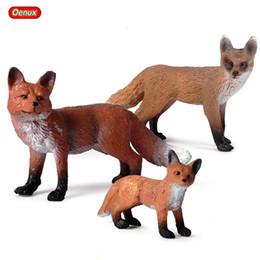 $enCountryForm.capitalKeyWord Australia - enux Forest Wildlife Animals Fox Simulation Animal Figurine Red Fox Action Figure PVC Miniature Educational Model Toy Kids Gift Oenux For...