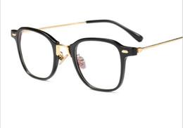 $enCountryForm.capitalKeyWord UK - Ultra light simple fashion flat mirror myopic radiation prevention glasses men and women retro show thin glasses frame