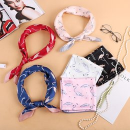 Wholesale New fashion silk satin silk scarf small square scarf gift for professional women