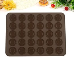 Silicone Microwave Mat Australia - 30 Holes Silicone Macaron Mat Non-stick Baking Mat Sheet Rolling Dough Mat Round Silicone Pad Baking Tools Fit Microwave Baking Tools