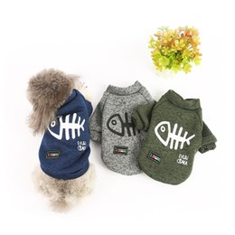 $enCountryForm.capitalKeyWord Australia - Autumn And Winter Pet Dog Clothes Fish Bone Figure Dog Clothes Small And Medium Dogs Two Feet Sweater Spot Pet Clothing