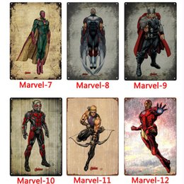 Pictures marvel online shopping - Marvel super hero Metal Signs Tin Painting Home Decor Posters Crafts Supplies Wall Art Picture cm Bar Cafe KTV Wall Decor