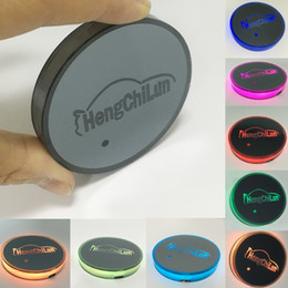 Car drink holders online shopping - 7 Color RGB LED Car Cup Pad Waterproof Rechargeable Car Cup Bottle Drinks Holder Pad Built in Vibration Light Sensor