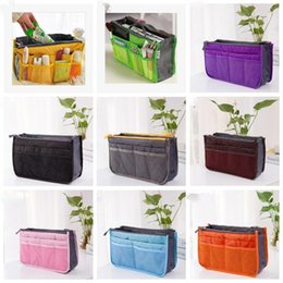 tote bag organizer inserts NZ - Organizer Insert Bag Women Nylon Travel Insert Organizer Handbag Purse Large liner Lady Makeup Cosmetic Bag Cheap Female Tote Bags CFYZ235