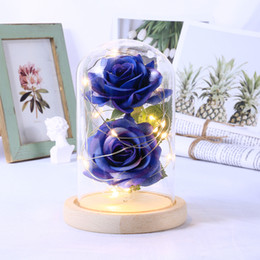 flowers batteries lights Australia - LED Beauty Rose Beast Battery Powered Red Flower String Light Desk Lamp Romantic Birthday Holiday Girls Mother Gifts Home Decor SH190920