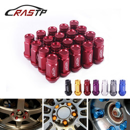 purple wheel nuts UK - RASTP-Fashion Design 20Pcs Set Racing 50mm Wheel Lug Nuts Forged 7075-T6 Aluminum Lug Nuts M12x1.5 M12x1.25 for Toyota Honda RS-LN047