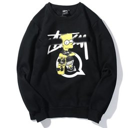 $enCountryForm.capitalKeyWord Australia - Designer spring hot selling pullover stussys new fashion tide brand sweater cartoon print long sleeve plus velvet men women couple sweater