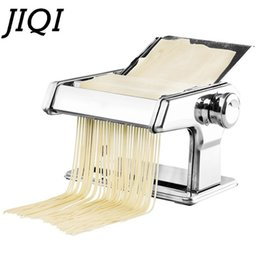 $enCountryForm.capitalKeyWord NZ - JIQI Stainless Steel Pasta Manual Noodle Maker Handmade Spaghetti Noodles Press Machine Roller Hand Operated Dough Cutter Hanger
